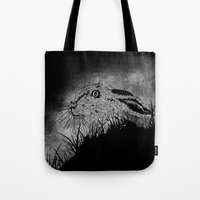 hare Tote Bags featuring Hare by hardy mayes
