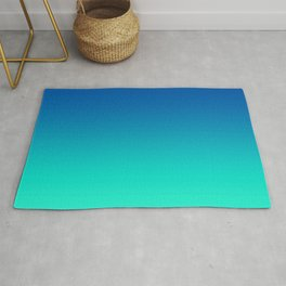 Teal Mint Ombre Rug