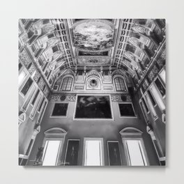 Museo Archeologico Nazionale Di Napoli - Black and White Metal Print