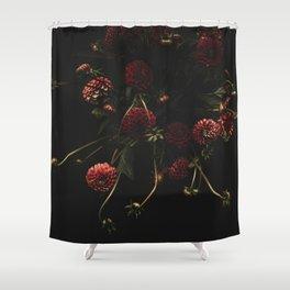 deep and dark Dahlias Shower Curtain