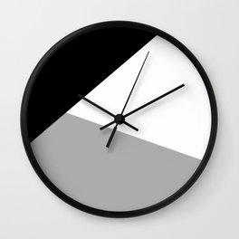 Monochrome Certainty Wall Clock