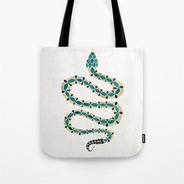 Emerald & Gold Serpent Tote Bag