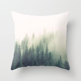 My Peacful Misty Forest II Throw Pillow