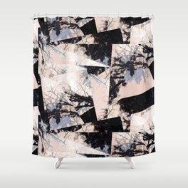 Beige et bois Shower Curtain