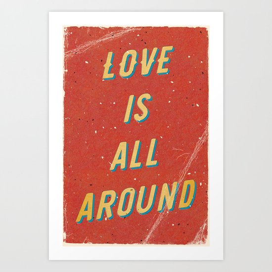 Love is all around - A Hell Songbook Edition Art Print