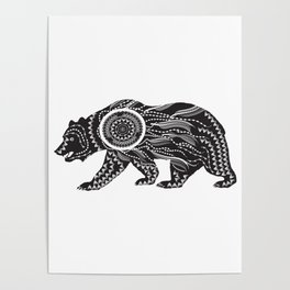 Dream Catcher Bear Poster