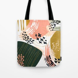 Brushstrokes abstract art III Tote Bag