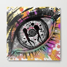 Ocular hysteria Metal Print