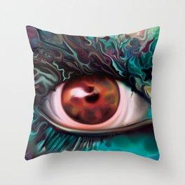 The Rebirth- Fantasy Eye Portrait  Throw Pillow