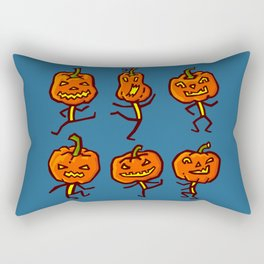 Six dancing pumpkins Rectangular Pillow