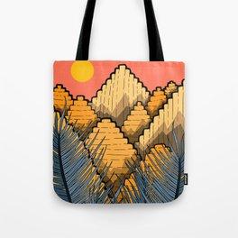 Pyramid Mountains Tote Bag
