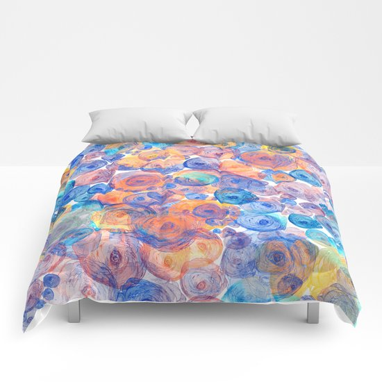 Floral abstract(44) Comforters