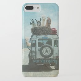 ALPACA WANDERLUST II SUMMER EDITION iPhone Case