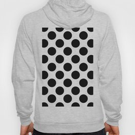 black round on a white background pattern Hoody