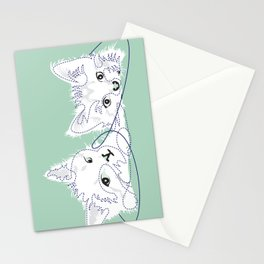 mint kittens 01 Stationery Cards