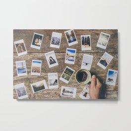 Photo prints on the table Metal Print