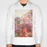cleveland Hoodies featuring Cleveland by MapMapMaps.Watercolors