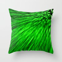 emerald Throw Pillows featuring Emerald by SimplyChic