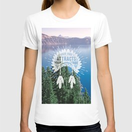 Your Vibe Attracts Your Tribe - Crater Lake T-shirt