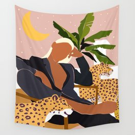 Girl Boss #illustration #painting Wall Tapestry