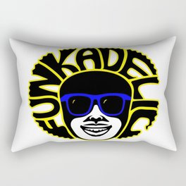 funkadelic afro hair guy for all funk soul brothers out there Rectangular Pillow