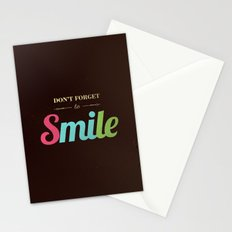 Don't forget to smile Stationery Cards