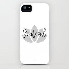 Grateful No.2 iPhone Case