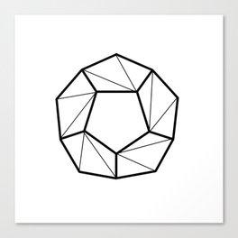 geometric shapes. prism art . black line prism for living room, Home Decor Graphicdesign Canvas Print