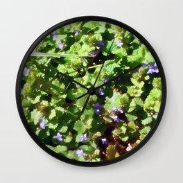Ground Ivy 05 Wall Clock