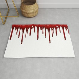 Blood Dripping White Rug