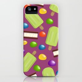 Lime Pops & Jelly Beans iPhone Case