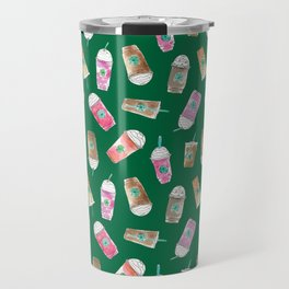 Coffee Crazy Toss in Green Travel Mug