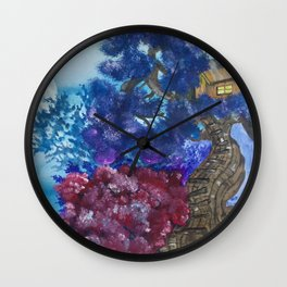 Treehouse and the other side Wall Clock