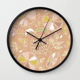 lemons terracota shades Wall Clock