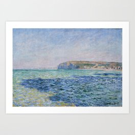 Shadows on the Sea at Pourville by Claude Monet Art Print