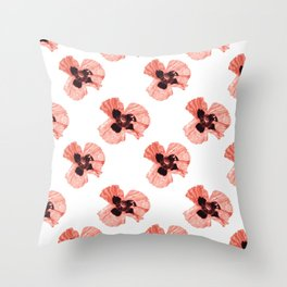 Pattern Coquelicots Rose Throw Pillow
