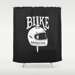 bike sacrifice Shower Curtain