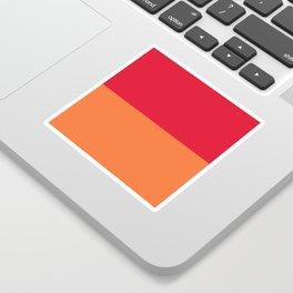 Raspberry Peach Orange Sticker