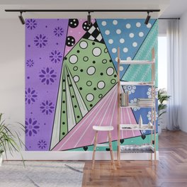 Color Block Patterns Wall Mural