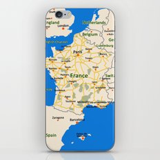 France map design iPhone & iPod Skin