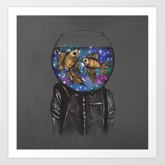 Swim Around My Cosmic Dreams Art Print