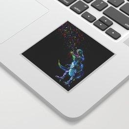Crystal T-Rex in Space Sticker