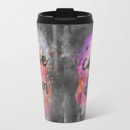 Carpe diem colorful watercolor handlettering Travel Mug