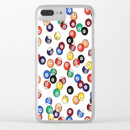 Pool Balls Clear iPhone Case