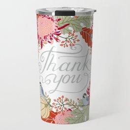 Thanksgiving thank you card Travel Mug
