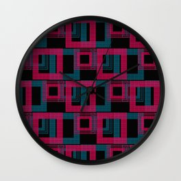 Geometric pattern . Leila . Wall Clock