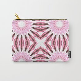 Pinwheel Flowers Pink Watercolor Carry-All Pouch