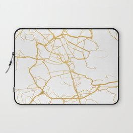 STOCKHOLM SWEDEN CITY STREET MAP ART Laptop Sleeve