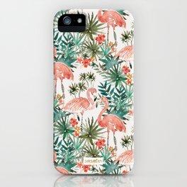 FLAMINGO PARADISE iPhone Case