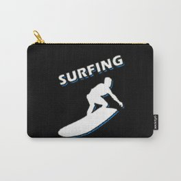 A Surfer On The Sports Surfboard Carry-All Pouch